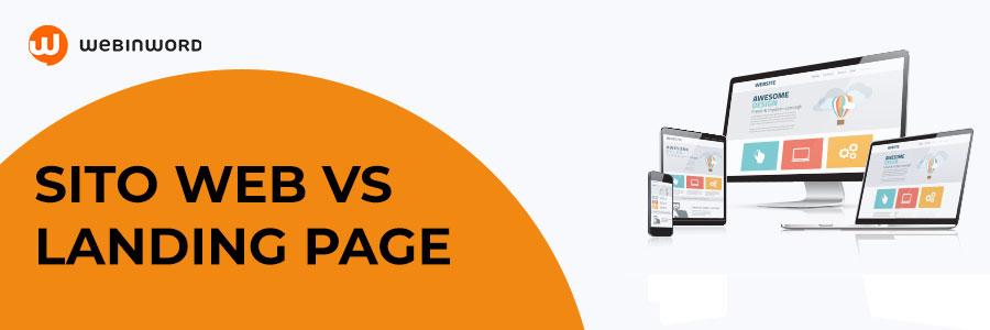 differenze tra Landing Page e siti Web