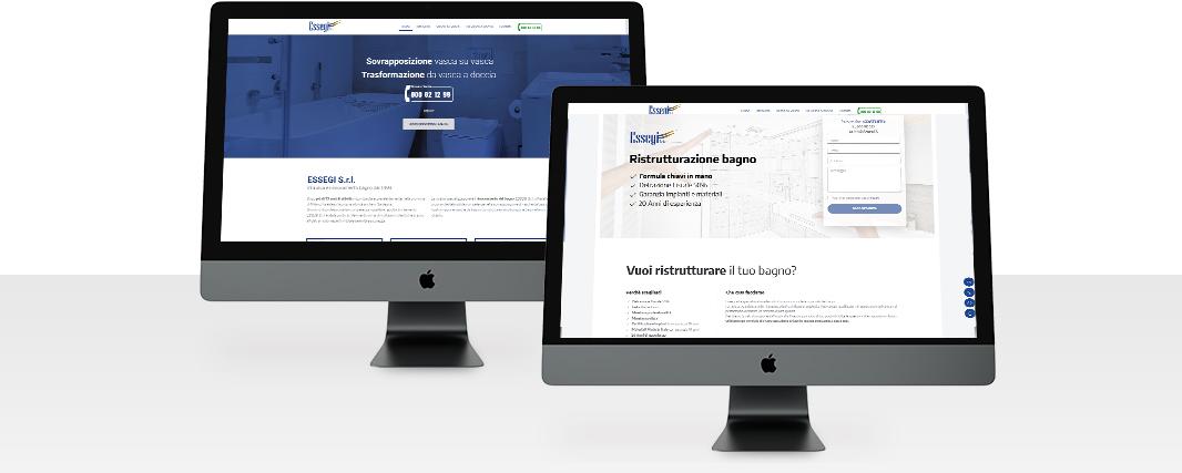 Confronto sito web e landing page