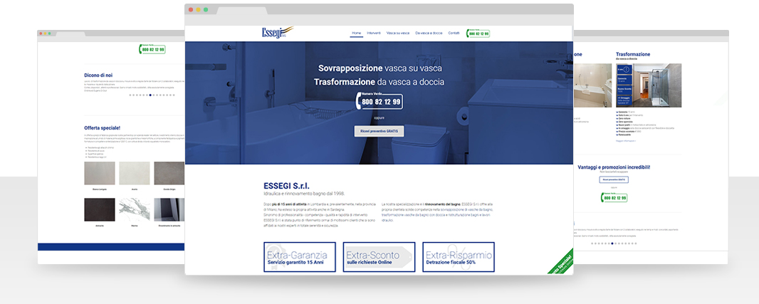 esempio Landing page
