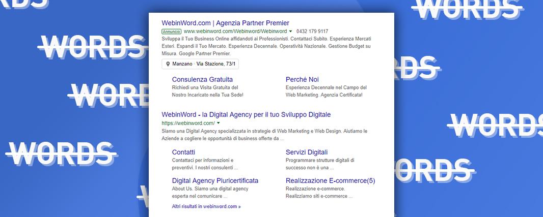 Google Ads e le parole chiave inverse